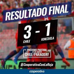 Chile volvió a la zona de clasificación directa y lo viviste por Cooperativa