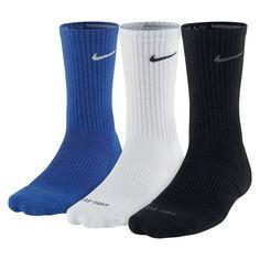 Nike Dri-FIT Cushion Crew Socks 3 Pack, Blue