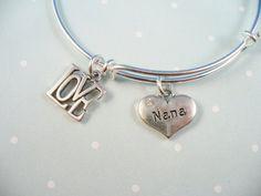 Nana Charm Silver Bangle Bracelet Alex and Ani by DesignsBySuzze, $16.00