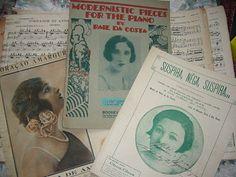 partitura musica antiga anos 20 / 30
