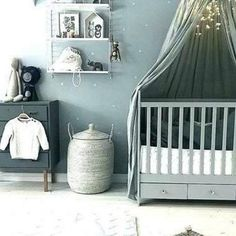 Fiction And Gender Neutral Nursery Ideas Themes Baby Rooms 106 - Homegoodinspira Baby Bed Canopy, Baby Crib Diy, Baby Nursery Diy, Baby Nursery Themes, Baby Cribs, Nursery Ideas, Nursery Pictures, Babies Nursery, Bedroom Ideas