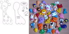 Toys made of felt. Diagrams and patterns of felt toys for beginners Diy And Crafts, Crafts For Kids, Felt Books, Felt Diy, Felt Ornaments, Activities For Kids, Sewing Patterns, Projects To Try, Tela