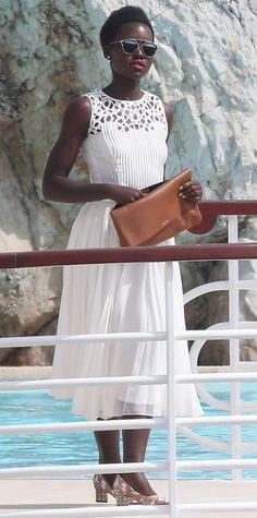 Lupita Nyong'o in a LWD.