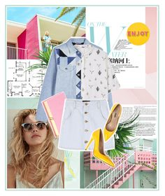 """""""A day in the sunshine"""" by scelestum ❤ liked on Polyvore featuring South Beach, TradeMark, Diesel, Lisa Perry, MANGO and Olympia Le-Tan"""