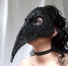 Raven masquerade mask, gothic, handmade