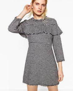 ZARA - WOMAN - FRILLED TWEED DRESS