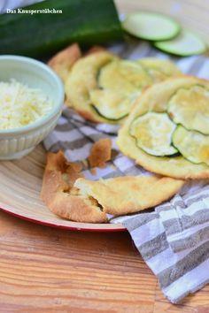 Flatbread mit Zucchini und Parmesan