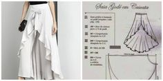 collage Skirt Pants, Shorts, Dress Patterns, Sewing Patterns, Diy Clothes Refashion, Types Of Skirts, Google Translate, Kids Fashion, Womens Fashion
