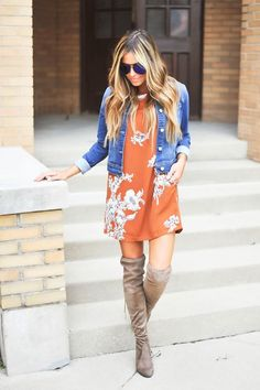 This OOTD is #GOALS    Must have Over-the-Knee Boots    Fall Fashion at DottieCouture.com   