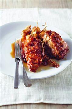 Filet mignon rôti et oignons rouges confits au sirop d'érable - Larousse