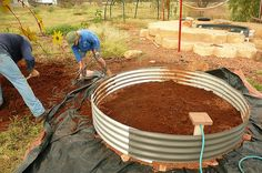 Big wicking beds for big gardens. These beds are very popular in England and Australia. The shape doesn't matter, but reservoir depth and soil depth DO MATTER. There are lots of YouTube videos, but you have to speak Australian or English English to understand them. This would be a good fit with a water harvesting system.