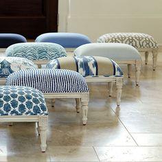 Quincy Indigo Fabric by the Yard | Ballard Designs