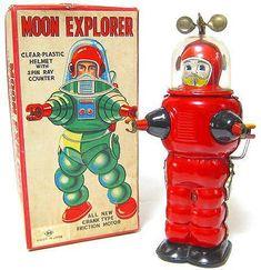 tin toys robots japanese space toy