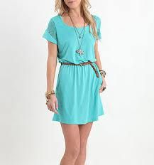 Light blue dress. Casual and cute!