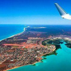 Over Broome, Western Australia.