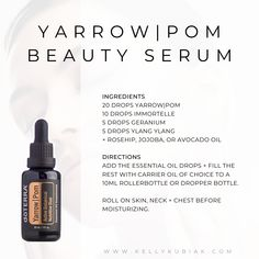 DIY Serum to promote youthful looking skin + reduce the appearance of fine lines Making Essential Oils, Essential Oils Guide, Essential Oil Uses, Doterra Essential Oils, Easential Oils, Terra Oils, Essential Oil Diffuser Blends, Vendor Table, Olie