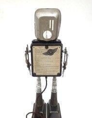 George robot sculpture by Paul Brady www.pbrobots.com assemblage art SOLD