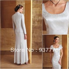 2014   New   Fashion  Embroidery   Beading   Nobleness   Mother  Of  The  Bride  Dresses/Paty   Dresses  With   Jacket $176.00