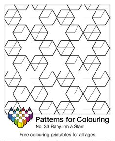 A star filled pattern for you to colour in. Free printable available when you click through...