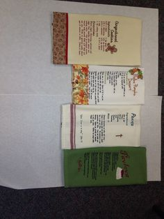 Recipe towels - gift exchange (Nov 2014)