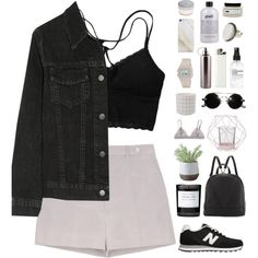A fashion look from September 2015 featuring J Brand jackets, Rochas shorts and New Balance sneakers. Browse and shop related looks.