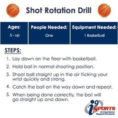 Get your rotation down on your shot! Here is a simple drill to do at home that just requires a #basketball. #youthsports #i9Sports