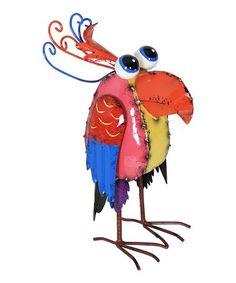 Red & Blue Bird Statue #zulily #zulilyfinds