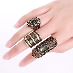 Ancient Wisdom Ring Set #handmade #ring #jewelry #women #fashion #accessories #rings