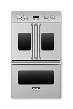 #Viking is on the cutting edge of great innovations in your kitchen!  We are in love with the french door double oven!  Launching soon, this oven gives you the french doors which makes cooking a breeze!  Instead of having to pull down the door and try to load your delicious dinners, simply open them, just like your refrigerator!  This is such a great idea--we can't wait to see it in action!