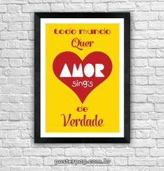 """Poster Paçoca """"Amor de Verdade"""""""