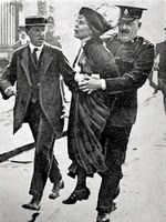 Emmeline Pankhurst  Suffragette leader founded the 'Women's Social & Political Union and crucial in obtaining women's suffrage. Arrested 12 times in 1912, spending 30 days in prison.