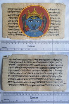 Original Antique Old Manuscript Jain Cosmology New Hand Painting Rare India #571