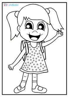 Omalovánka - školačka - zápis do první třídy Coloring Pages, Diy And Crafts, Snoopy, School, Fictional Characters, Quote Coloring Pages, Kids Coloring, Fantasy Characters, Colouring Sheets