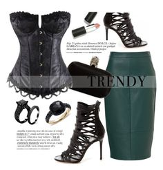 """""""Atomic Jane"""" by atomic-jane ❤ liked on Polyvore featuring moda, Alexander McQueen, Sigma Beauty, Pomellato, black ve GREEN"""