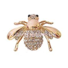 Smooth-Gold-Plated-Bee-Brooch-Insect-Brooch-Mothers-Day-Gift-New-600