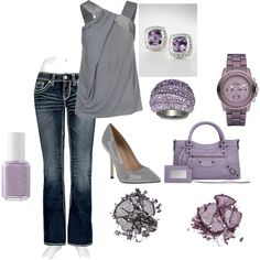 Grey and purple