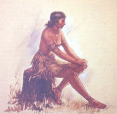 This is a picture of Pocahontas after she was captured by the Jamestown colonist.- Destiny Kirkpatrick
