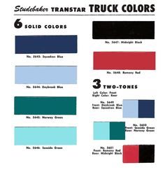 1957 Studebaker- DUCO Color Bulletin #23 (sheet 2)