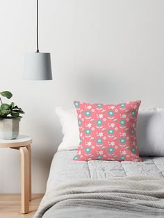 Pink Floral cushion Floral Throw pillow cushion floral