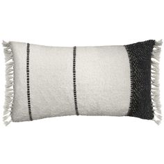 The Berber Cushion Off White is a beautiful soft wool cushion with a nomad style to it. - Woven stripes in basalt black wool - Tasseled edges - Comes with a cushion pad Throw Cushions, Bed Pillows, Ibiza Style Interior, Quirky Homeware, Cushions Online, Luxury Throws, Ibiza Fashion, How To Clean Furniture, Berber Rug