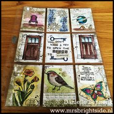 Pocket letter vintage style In this world, Timeless Textures, best birds, butterfly basics and Labeler Alphabet among others by Stampin' Up!