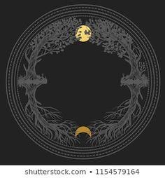 Sacred Masonic Symbol Abstract Vector Illustration Stock Vector (Royalty Free) 1150317815 Mystical Art, Moon Art, Art Inspo, Art Tattoo, Illustration Art, Masonic Symbols, Book Of Shadows, Art Inspiration, Prints