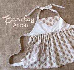 Barclay - Kitschy Apron Girls Sewing Pattern. PDF Pattern. Toddler Pattern. Allâ?¦