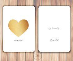 kartka zdrapka kocham, kartka dla chłopaka, kartka dla dzieczyny Diy And Crafts, It