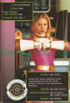 "Zeo Ranger I, Pink aka Katherine ""Kat"" Hillard aka Sweetheart of Surrey Hills aka Pink Power Ranger, Pink Ninja Ranger, Pink Turbo Ranger in ""Power Rangers Zeo"""