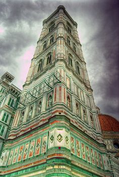 Campanile,Florence, Italy  Over 400 steps to the top but worth it when u get there. Beautiful views of Florence