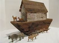 antique old noah's ark