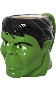 Sometimes I just feel like this~ You don't have to be exposed to Gamma rays to be a fan of the Hulk. All you have to do is drink from this mug to show your love for Marvel's green giant. For any fan of the Incredible Hulk, this mug i Marvel Comics Superheroes, Marvel Characters, Avengers Movies, Angry Hulk, Hulk Movie, Disney Coffee Mugs, Red Hulk, Book Shirts, Hulk Smash