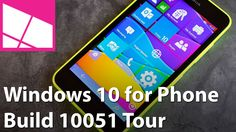 Windows 10 for Phone (Build Tour We have. - Windows 10 for Phone (Build TourWe have had Windows 10 for phone, technical build 10051 for about 15 minutes… here's our quick tour of what's. Software Apps, Microsoft Software, Microsoft Lumia, Windows 10, Design Tech, Geek Stuff, Tours, Messages, Phone