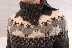 Ravelry: astas' Von Love this pattern so much! Knitting Designs, Knitting Projects, Knitting Yarn, Hand Knitting, Wooly Jumper, Ravelry, Icelandic Sweaters, Coffee Sleeve, Pulls